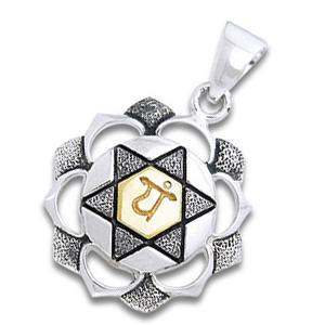 Chakra vedhæng 4 Chakra – Anahata – Hjertechakraet – u/kæde